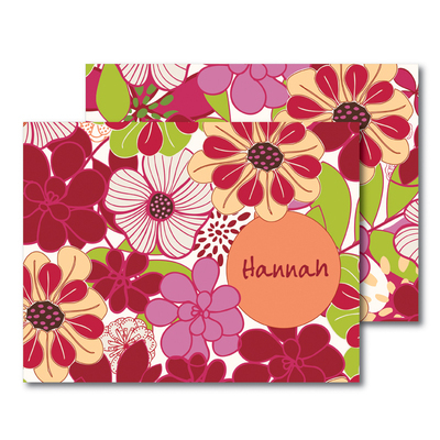 Flower Power Foldover Note Cards